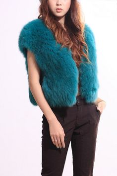 So love this colour of this fur vest - $386 from Oasap