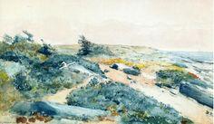 Prout cou, aquarelle de Winslow Homer (1836-1910, United States)