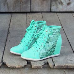 Lush Meadows Lace Sneakers, Sweet Rugged Boots.. I would wear these all the time