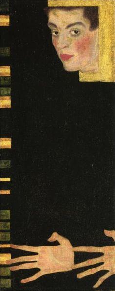 by Egon Schiele self portrait.