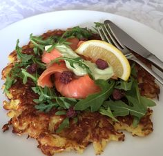 Egg & Gluten-free Potato Pancake With Pesto Sour Cream