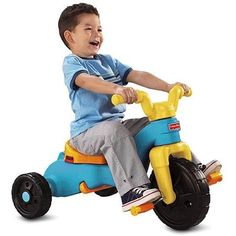 The Fisher-Price Rock Roll 'n Ride Trike is a stationary toy that provides kids with hours of entertainment right at home. When they are done rocking and want more you can simply flip the rocker bas...