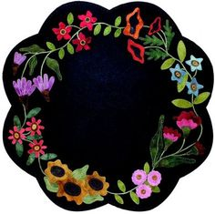 primitive wool applique patterns | ... spring summer mat to decorate your table includes pattern wools