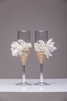 Personalizada boda flautas copas boda champagne tostado