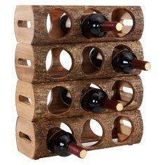 Danya B. Danya B Stackable Three Bottle Wine Holder Log Acacia Wood with Bark Bar, Rustic Wine Racks, Wine Bottle Holders, Wine Bottles, Wood Logs, Wine Refrigerator, Wine Collection, Cheap Wine, Wine Cabinets