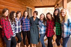 "Perfect for a fall wedding...the girls all in flannel for their ""getting ready"" pix! YESSS PLEASE"