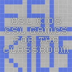 ESL-Kids - ESL Games for the Classroom. That´s really great! Games from A to Z to play with every topic required in a school year. English Grammar Games, Esl Resources, Handwriting Worksheets, Classroom Games, Play, School, Kids, Young Children, Boys
