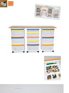 use for kids craft table/storage instead (if we ever have this many Legos I would cry)