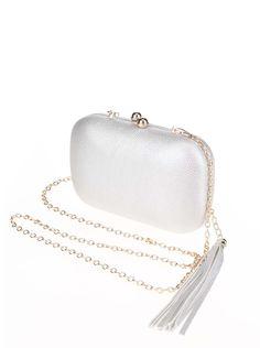 Geantă plic argintie cu ciucure si lant auriu Sweet 15, Coin Purse, Wallet, 15th Birthday, Pocket Wallet, Coin Purses, Diy Wallet, Purses, Purse