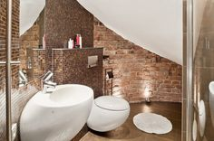 Modern fürdőszoba a szuterénben
