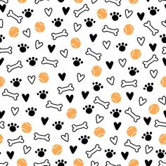 Dog Wallpaper, Animal Wallpaper, Flower Wallpaper, Pattern Wallpaper, Puppy Backgrounds, Colorful Backgrounds, Paw Print Background, Scrapbook Designs, Simple Shapes