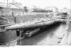 Lorient. France 1940- U-37 in dry dock
