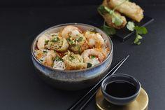 Bo bun aux crevettes #AuchanEtMoi #auchan Bo Bun, Potato Salad, Shrimp, Potatoes, Ethnic Recipes, Food, Dish, Kitchens, Recipes