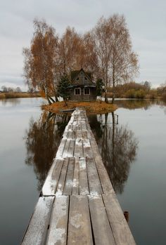 long walk home, cool little house on the lake, gives a new meaning to lake house, home, boardwalk