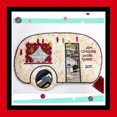 Machine Embroidery Patterns ITH - Caravan Zipper Case - Sweet Pea