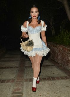 Demi Lovato - Attending a Halloween Party in Los Angeles 10/29/16