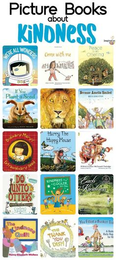 16 excellent children's picture books about kindness We want our children to be kind. Reading children's picture books about kindness is a wonderful way to share this important value. Good Books, Books To Read, My Books, Reading Books, Teaching Reading, Teaching Kids, Kids Learning, Books About Kindness, Preschool Books