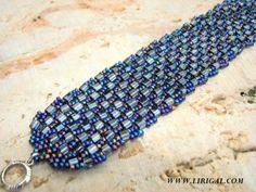 Patterns.Herringbone Cube Bracelet.Beading Schema.Master Class ~ Seed Bead Tutorials