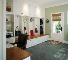 Mud room with built in's and desk