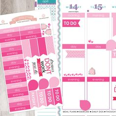 43 Piece Pink Decorating Kit for YOUR planner!   Erin Condren Planner / Plum Paper Planner / Filofax / Kikki K / Planner