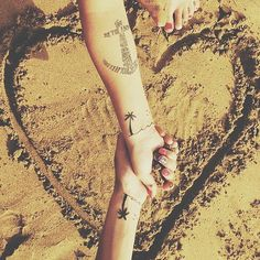 BFF tattoo ideas you'll adore:  Permanent Vacation