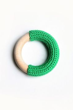 Here's a brilliant little idea - crocheted teething ring for baby - available to purchase via the Etsy shop Koukku.