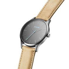 The 40 - Gunmetal/Sandstone Leather