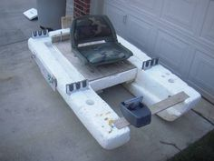 A water wagon type boat for fishing small bodies of water ...