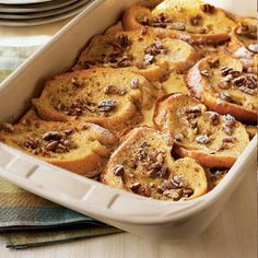 Strawberry-Filled French Toast With Caramel and Pecans: This #breakfast favorite is a sweet way to start off your morning. #frenchtoast | Health.com