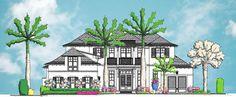 Front entry elevation - Naples, FL Windhamstudio.com
