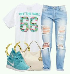 Cute teal outfit #cuteteenoutfits