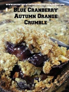 Bacon Time With The Hungry Hungry Hypo: Carton Smart Grocery Shopping And My Easy Blue Cranberry Autumn Orange Crumble