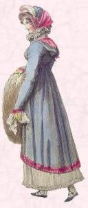 Regency Pelisse of 1815 - Shorter Pelise Coat.
