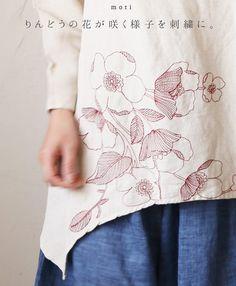 。3/24 22時から 残りわずか*「mori」りんどうの花が咲く様子を刺繍に。プルオーバートップス