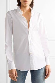 Saint Laurent | Хлопок-поплин рубашка | NET-A-PORTER.COM