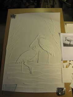 Kiln carved cranes