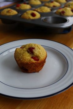 Cranberry Orange Muffins Sweet but tart muffins. A perfect welcome home treat! by Life on Food