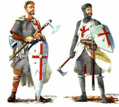 There was a threefold division of the ranks of the Templars: the noble knights, the non-noble sergeants, and the chaplains. The Templars did not perform knighting ceremonies, so any knight wishing to become a Knight Templar had to be a knight already. They were the most visible branch of the order, and wore the famous white mantles to symbolize their purity and chastity