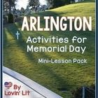 Arlington-Activities for Memorial Day (free) 4th Grade Social Studies, Teaching Social Studies, Guided Reading Activities, Reading Strategies, 8th Grade Reading, May Themes, Middle School Literacy, Library Lessons, Summer School