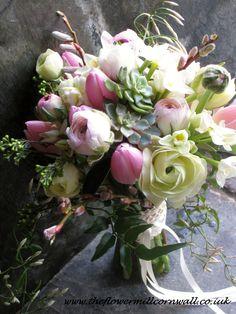 February Wedding By Theflowermillcornwallcouk