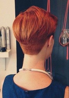 37 Gorgeous Pixie Hairstyles to Look Stylish - Page 30 of 37 - Lead Hairstyles Short Wedge Hairstyles, Short Haircut Styles, Short Pixie Haircuts, Pixie Hairstyles, Short Hair Cuts, Wedge Haircut, Crop Haircut, Shaved Nape, Beautiful Haircuts