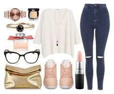 """""""Casual Rose."""" by cece-cherry ❤ liked on Polyvore featuring Topshop, Chloé, MANGO, Reebok, Michael Kors, Christian Dior, Chanel, MAC Cosmetics, Yves Saint Laurent and Nixon"""