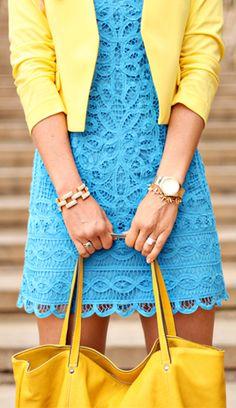 blue + yellow. Longer please.