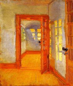 Interior, Brøndums Annex Anna Ancher circa 1918  Skagens Museum (Denmark)