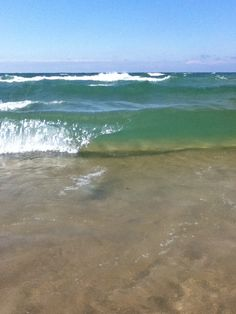 Lake Michigan…water. What a beautiful color!