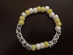 Spread Love Kandi Bracelet by KandilandUSA on Etsy