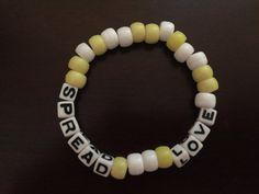 Spread Love Kandi Bracelet by KandilandUSA on Etsy