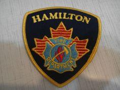 Patch fire Hamilton fire department Emergency Services 100% Original Rarity