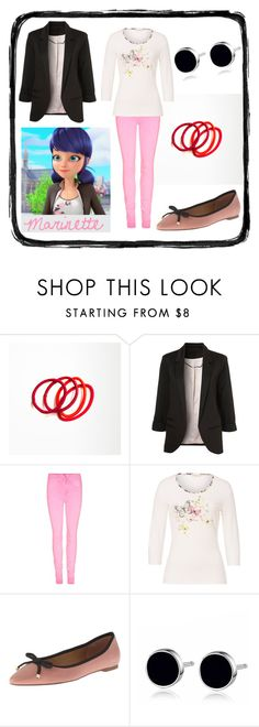"""""""Marinette Dupain-Cheng - Miraculous (Ladybug)"""" by lottie554 ❤ liked on Polyvore featuring moda, Basler, Franco Sarto, women's clothing, women, female, woman, misses, juniors y colouredjeans"""