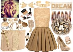 """Le cre`me"" by iheartshihtzus ❤ liked on Polyvore"